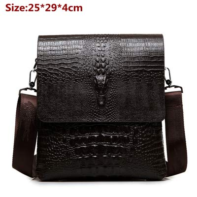 88096f93b6 QSGNR ventiquattrore New Vertical Top Leather Bag Uomo Business Casual  Alligator Borse A Tracolla Messenger Bag