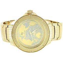 Ice Mania Techno KC King Herren Weltkarte Master Quarzwerk mit echter Diamant Armbanduhr