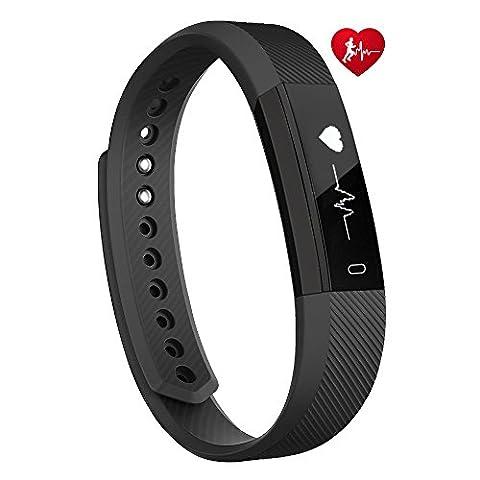 Fitness Tracker d'activité, Toobur Montre Connectée Cardiofréquencemètre Etanche Bracelet Connecté