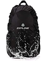 Zipline Rain & Dust Cover Easy Foldable Nylon Black Waterproof Cover with Pouch Upto 40 Ltrs Laptop Bags and Backpacks Bag Cover  (Black)
