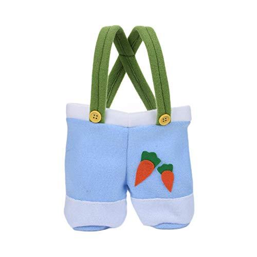 Osterhase Tasche Tuch Süßigkeiten Ei Taschen Spielzeug Kinder Hose Lange Form Kaninchen Strap Tote Bag Ostern Tag Geschenke Handtasche Niedlichen Schwanz Gepatcht Körbe (Ostern Behandeln Taschen)