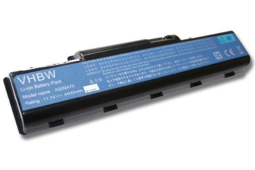 vhbw Li-Ion Akku 4400mAh (11.1V) für Notebook Laptop Acer Aspire 5732ZG, Packard Bell EasyNote TJ62, TJ63, TJ64 wie AS09A31, AS09A41, AS09A56.