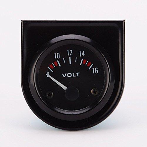 Winomo LED Spannungsmesser Voltmeter Messgerät für Autos Professionell 8~16V DC 12V 52 mm