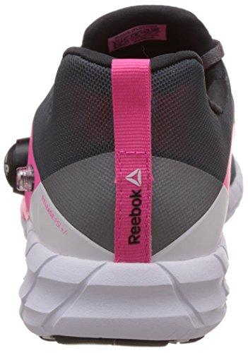 Reebok Zpump, Scarpe Low-Top Donna alloy-tin grey-solar pink-coal-white