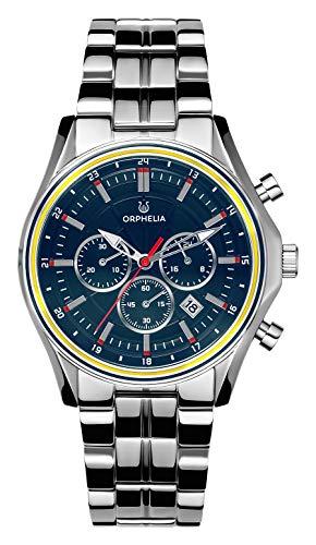 ORPHELIA Herren Chronograph Quarz Uhr mit Edelstahl Armband OR82811