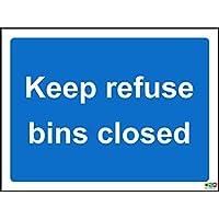 Keep contenedores de basura cerrado–señal adhesiva adhesivo 200mm x 150mm
