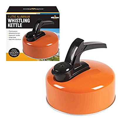 Milestone Camping Whistling Kettle Teapot Coffee Pot Indoor Outdoor Camping Hiking Picnic 1
