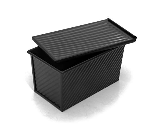 Pullman Loaf Pan (Pullman Brotbackform mit Deckel, antihaftbeschichtet, 21,6 x 11,9 cm, Schwarz)