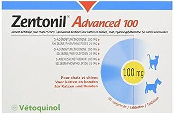 Vetoquinol Zentonil Advanced 100 - complement dietetique pour Chat et chien 100 mg - 30 Comprimes