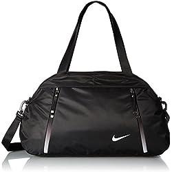 Nike Auralux Club Solid Bolsa de Deporte, Mujer, Negro (Black / Black / White), Talla Única