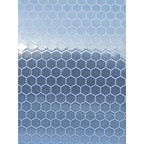 HI VIZ intensità Grade Bianco riflettente nastro striscia 50mm x 200mm