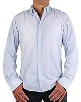 MASONS Herren Langarm Hemd Shirt JFK Light Blue 2CA3627