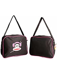 ac60f182d8 PAUL FRANK JULIUS MONKEY HEADPHONES MESSENGER AIRLINER SHOULDER BAG BLACK