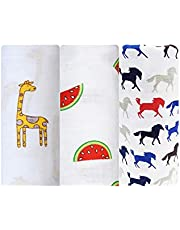 Cottington Lane Baby Swaddle Blanket, Extra Large Size 120cm X 120cm, Soft Organic Muslin Cotton, Newborn Baby Wraps/Stroller Cover