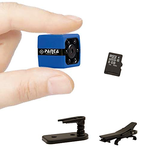 Mediashop Panta Pocket Cam Minikamera Motion Sensor Micro SD Karte | inkl. Ladekabel, Installationsset, 8 GB SD Karte, Body Clip, Clip fürs Auto | Das Original aus dem TV