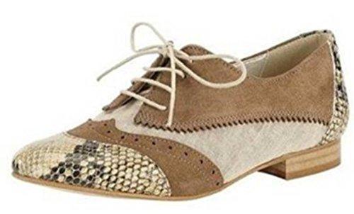 Best Connections  Schnürer, Chaussures de ville à lacets pour femme Marron - Taupe