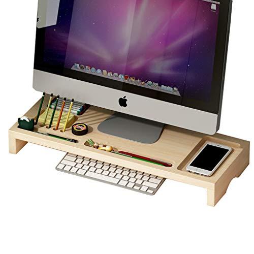 HKPLDE Monitorständer/Holz Bildschirmerhöhung Computer Monitorständer Robust Stabiler mit Stauraum Bildschirm Ergonomisches Für Heim und Büro-Holzmaserung -