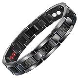 HSNZZPP Qualitätsarmbandarmband Turmalin Energie Balance Armband Turmalin Armband Gesundheits-Schmuck Für Männer Frauen Germanium Armbänder,Black-OneSize