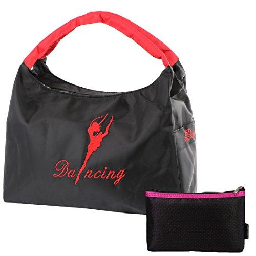kilofly ,  Mädchen Schultertasche , schwarz - schwarz - Größe: One Size (Make Up Kits Für Teens)