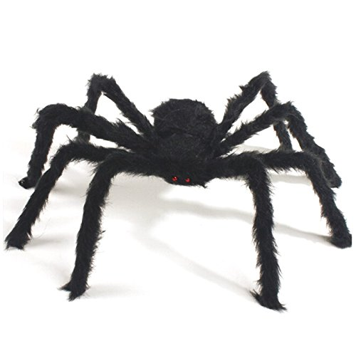 Giant Huge Black Spider Dekorationen, scary Halloween Outdoor Decor Hof Dekorationen, groß Größe realistische Fake Hairy Spider Requisiten Decor für Halloween (Hütte Die Party Kostüme)
