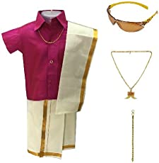 Amirtha Fashion Boys Traditional Dhoti & Shirt Set(AMFCMPD)