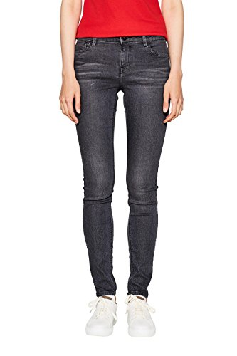 edc by ESPRIT Damen Jeanshose 996CC1B904-Super Soft, 912 Black Medium Wash, 27/30