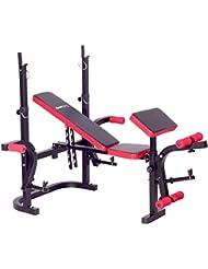 SportPlus SP-WB-003-B - Banc de Musculation SportPlus Unisex - Complet - Parfait pour le Fitness, Gym et Musculation