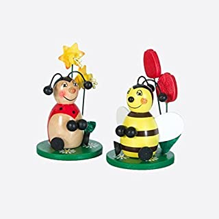 Bee/Ladybird Seated 9cm Sort