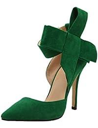 Sandalias Mujer Verano, ❤️ Manadlian Mujer Pajarita Bombas de TAC?n Alto Vestido de Fiesta Zapatos de Corte