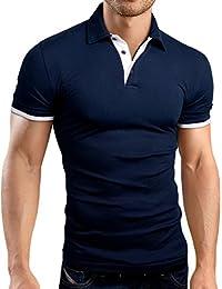 Grin&Bear coupe slim contrast Polo Tee Shirt, GB160