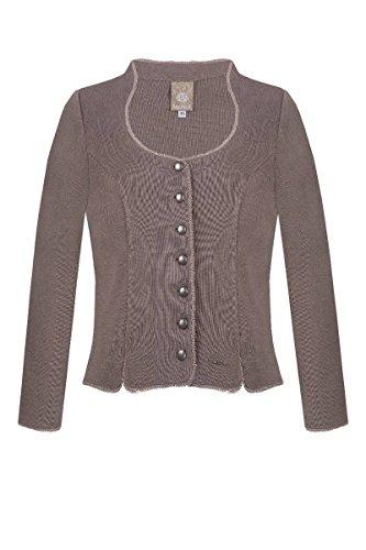 MOSER Trachten Strickjacke taupe Nicki-Claudia 132085 von MOSER®, Material Baumwolle, Größe 46