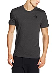 The North Face M S/S Simple Dome Tee, Maglietta a Maniche Corte Uomo, Grigio, M