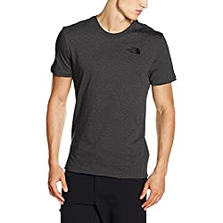 The North Face M SS Simple Dome Tee, Maglietta a Maniche Corte Uomo, Grigio (TNF Medium Grey Heather), XL