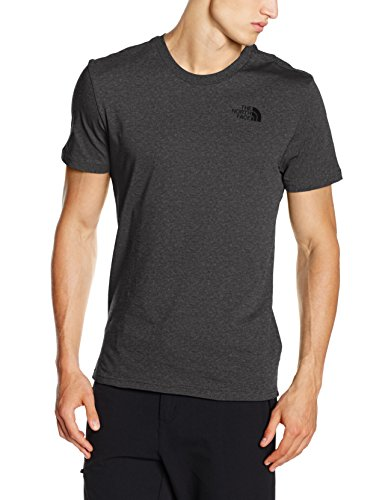 North Face M S/S Simple Dome Tee Maglia a Maniche Corte, Grigio/Tnfmdgyhtr(Std), XL