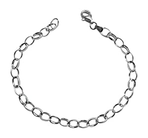 """Sterling Silver Charm Bracelet - 7.5"""" (19cms) For All Leading Brands Of Clip On Charms. - Supplied In A Lovely Presentation Box Making It A Great Gift - Fantastic Value - Why Pay More?"""