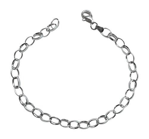 Bettelarmband, Sterlingsilber, 19 cm, geeignet für alle gängigen Charm-Anhänger-Marken, inklusive Geschenkbox
