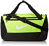 Nike NK BRSLA S DUFF - 9.0 Gym Bag, Volt/Black/White, 51 cm