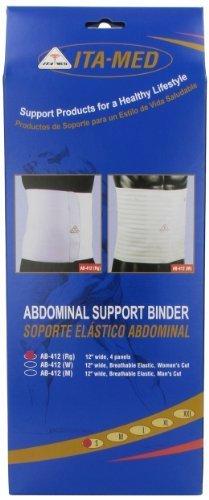 ITA-MED Elastic Abdominal Binder - 4 Panels, Unisex, 12