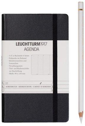 Leuchtturm1917 316927 Adressbuch (A-Z Register, Pocket A6) schwarz