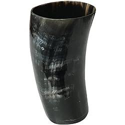 Vaso de Cuerno Vikingo Real. Hecho a mano.
