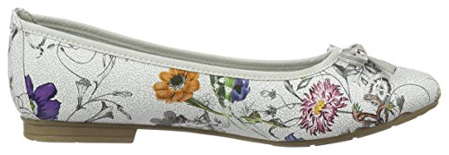 Softline 22164, Ballerine Donna Marrone (Flower Comb. 908)