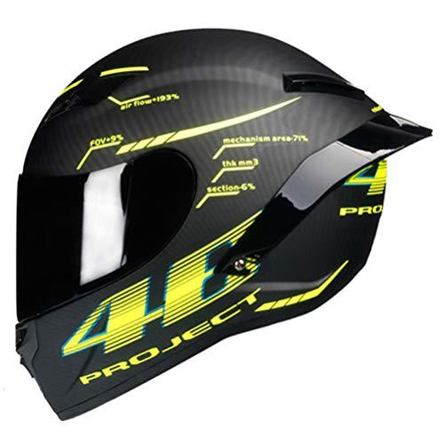 Fibra di carbonio casco integrale del motociclo anti nebbia Suanproof professionale Mountain Bike Motocross tappi di sicurezza uomini donne universale Racing casco