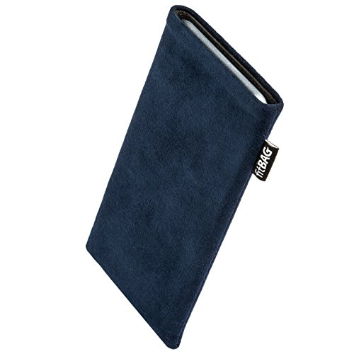 fitBAG Classic Blau Handytasche Tasche aus original Alcantara mit Microfaserinnenfutter für Apple iPod Touch 7G 2019 7.Generation | Hülle mit Reinigungsfunktion | Made in Germany Original Ipod Touch