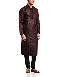 Peter England Men's Cotton Kurta Pyjama with Waist Coat