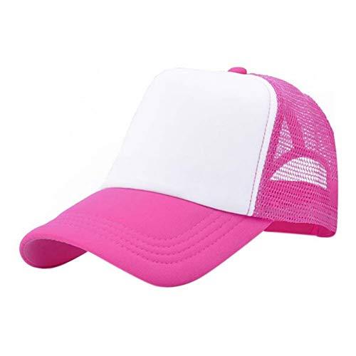 BQMLKF Herren-Baseballmütze Vogue Verstellbare Baseballmütze Trucker Hat Blank Geschwungene Mütze Mesh Plain Color Cap, Mrw Blank Trucker Hats