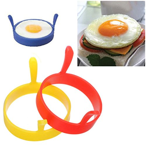 41fLGvCjU3L. SS500  - Hunpta Silicone Round Egg Rings Pancake Mold Handles Nonstick Fried Frying Pancake Mold
