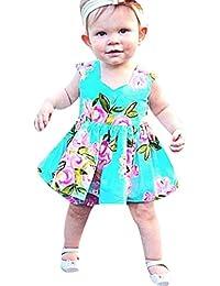 Vestido de princesa con estampado floral para bebés de 6 meses a 3 años de edad