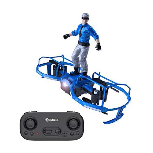 EACHINE E019 Mini Drohne Für Kinder und Anfänger,RC Quadcopter, Stunt Ferngesteuerte Hubschrauber mit Fallschirmjäger,2-Achse, Höhe Halten,360°Überschlagen, Spielzeug und Geschenk für Kinder (Blau)