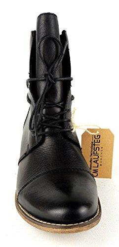 Laufsteg München HW152201 Damen Biker Boots Schwarz (Black)