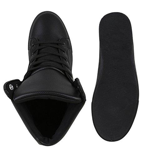 Damen Herren Cultz Basketballschuhe Sportschuhe Sneakers Schwarz Carlet